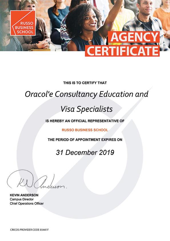 russo_businessl-agency-certificate_dec
